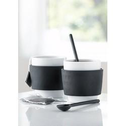 Steel-function kaffekopper - sort