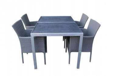 Stella Cebu Granit Havemøbelsæt - Grå