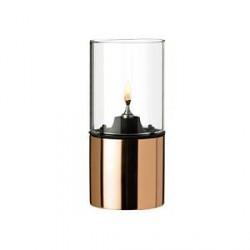 Stelton Olielampe - Kobber, klart lampeglas