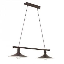 Stockbury Loftlampe m. 2 lamper - Antikbrun