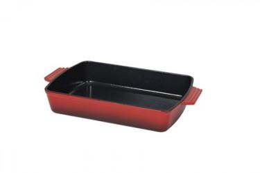 Støbejernsform 3,5 liter Emaljeret Rød