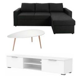 Studenter option 7 - 3 pers. sofa + sofabord + TV-bord