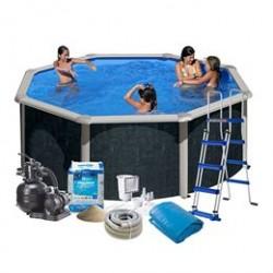 Swim & Fun familiepool - Imiteret rattan - 10.102 liter