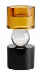 T-light candleholder, crystal glass