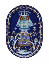 Taika Serveringsfad 41 cm blå