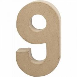 Tal 9. H: 20,5 cm. 1 stk. Papmaché