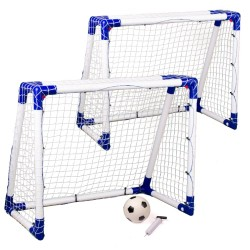 Target Sport juniormål - 2 stk. inkl. bold og pumpe