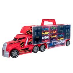 Teamsterz biltransporter - Tz Stunt Transporter - Rød