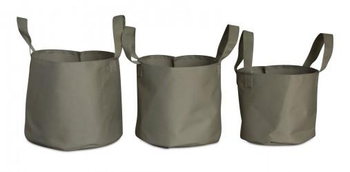 Tekstil potter - 3 stk - Beige