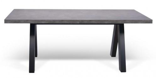 Temahome - Apex Spisebord - Grå Beton-look 200x100