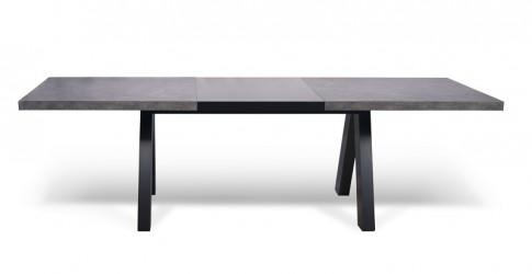 Temahome - Apex Spisebord m/udtræk - Grå beton-look