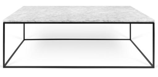 Temahome - Gleam Sofabord - Hvid m/sort stel 120 cm