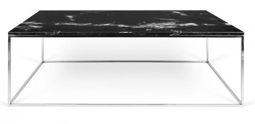 Temahome - Gleam Sofabord - Sort m/krom stel 120 cm