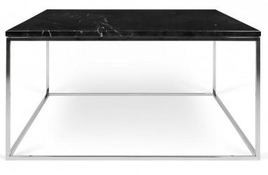 Temahome - Gleam Sofabord - Sort m/krom stel 75 cm