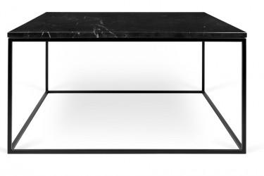 Temahome - Gleam Sofabord - Sort m/sort stel 75 cm