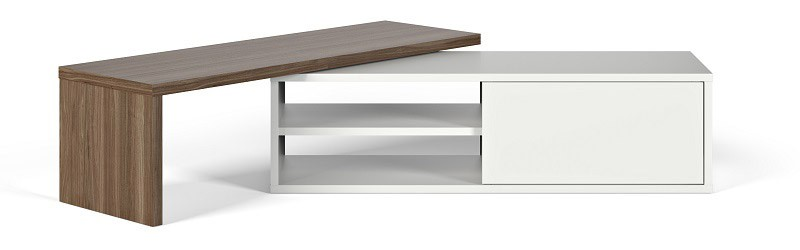 Temahome - Move TV-bord - Hvid/brun