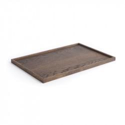 The Oak Men Square Tray Black Oak Large
