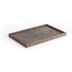 The Oak Men Square Tray Black Oak Medium