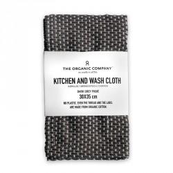 The Organic Company Kitchen and Wash Cloth Dark Grey
