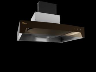 Thermex Airgrip - Rf/sort M/motor Indbygningsemhætte - Rustfrit Stål