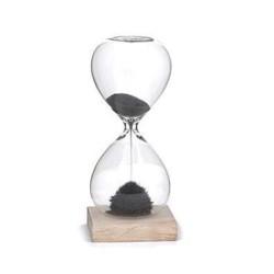 Timeglas med magnetisk sand