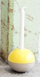 Tippetop lysestage (gul/bØg)