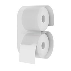 Toiletrulleholder i akryl - klar