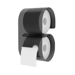 Toiletrulleholder i akryl - sort