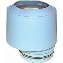 Toilettilslutning, ekscentrisk med hvid kappe - 97-108mm