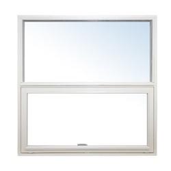 Topstyret/Fast vindue 119x132 ral 9010 træ