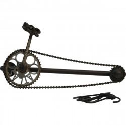 TRADEMARK LIVING knage af cykelkæde, inkl. 5 kroge - mørkt jern m. patina