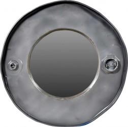 TRADEMARK LIVING vægspejl - spejglas, m. bred jernramme, rund (Ø 59)