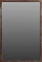 TRADEMARK LIVING vægspejl - spejlglas, m. rå jernramme (100x68)