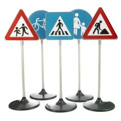 Trafikskilte i børnehøjde - 5 stk.