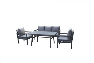 Trento Sofagruppe 3-personers - Mørkegrå