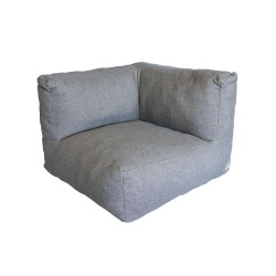 TROISPOMMESHOME Lounge hjørnestol - lysegrå Olefin stof