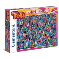 Trolls Impossible puslespil - 1000 brikker