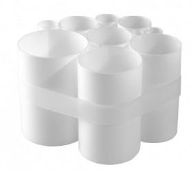 Tube vase (hvid)
