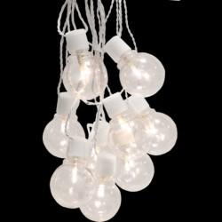 Udendørs LED Lyskæde Klar - 4,5m. - Hvid
