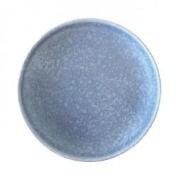 Uh la la - Tallerken - Mat blå med hvide flakes (Ø27cm)