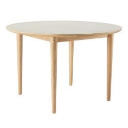 Unit10 spisebord med udtræk - C62E Bjørk - Eg/grå linoleum
