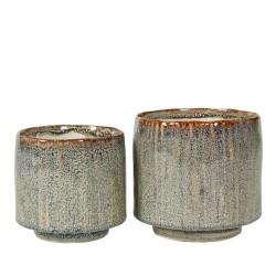 Urtepotteskjulere 2 stk. keramik