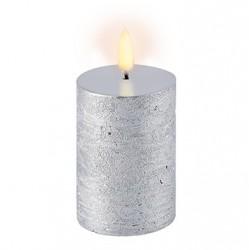 Uyuni LED Bloklys - 5x10 cm-Sølv