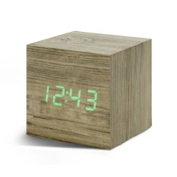 Vækkeur - Gingko Cube Click Clock ask