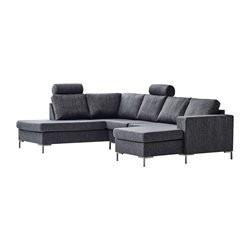 Valdis U-sofa højrevendt antracit