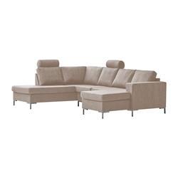Valdis U-sofa højrevendt gråbrun