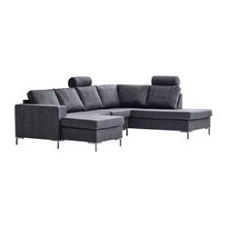Valdis U-sofa venstrevendt antracit
