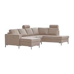 Valdis U-sofa venstrevendt gråbrun