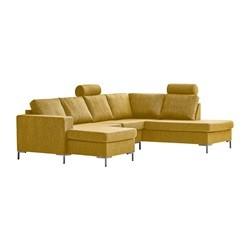 Valdis U-sofa venstrevendt gul