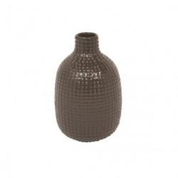 Vase chubby dotty (brun)